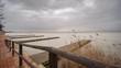 Beautiful Albufera pier static camera time lapse, Valencia.