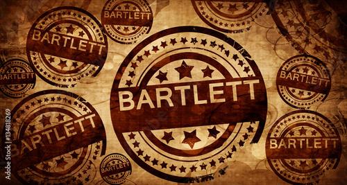 Photo bartlett, vintage stamp on paper background