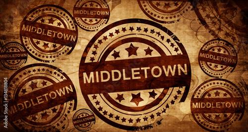 middletown, vintage stamp on paper background Canvas Print
