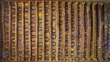 Gondar. Debre Birhan Selassie Church (Trinity And Mountain Of Light). The Ceiling Covered With The Faces Of Winged Cherubs - Examples Of Ethiopian Church Art (17th Century)