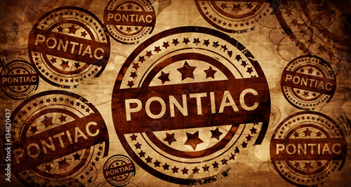 Canvas Print pontiac, vintage stamp on paper background