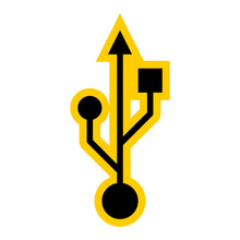 USB Port Sign Universal Serial Bus Symbol