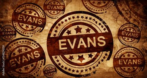 Foto evans, vintage stamp on paper background