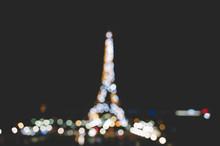 Eiffel Tower Bokeh Night View