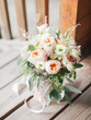 canvas print picture wedding bouquet with david austin roses