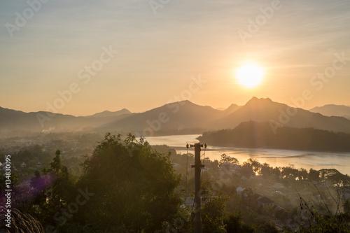 Foto op Plexiglas China Sunset in Laos