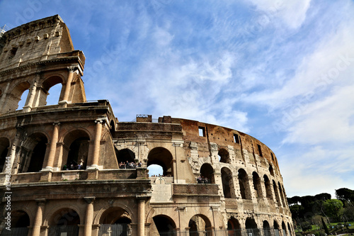 Fotografia, Obraz  ROME, ITALY - APRIL 3, 2014: The Colosseum - a monument of architecture of ancie