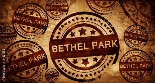 Photo bethel park, vintage stamp on paper background