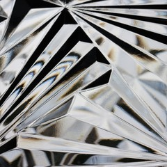 Cut glass close-up