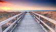 Leinwanddruck Bild - Strandübergang zur Ostsee - Frühling