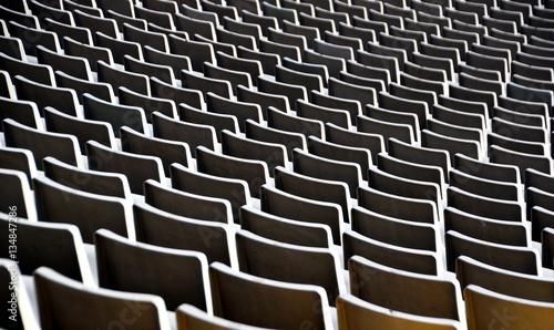 Photo Leere Sitzplätze im Stadion von Barcelona