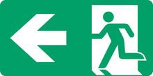 ISO 7010 E001 Emergency Exit (left Hand)