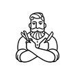 Retro Barber illustration