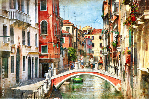 Poster Venice Venice. Artwork in painting style