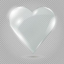 Glass Heart On A Transparent Background, Illustration.