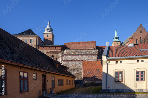 Photo  Medieval castle Akershus Fortress in Oslo. Norway