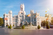 canvas print picture - Plaza de Cibeles mit dem Brunnen und Palast Cibeles in Madrid, der spanischen Hauptstadt.