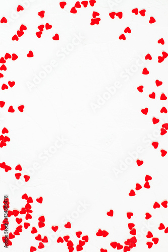 Fotografie, Obraz  Festive background with decorations in the shape of heart