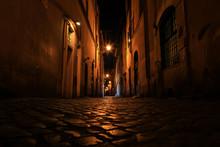 Rue De Rome La Nuit, Rome, Latium, Italy