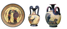 Ancient Greek Vases And A Plate