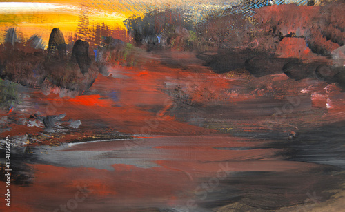 Foto op Aluminium Heelal oil painting abstract background