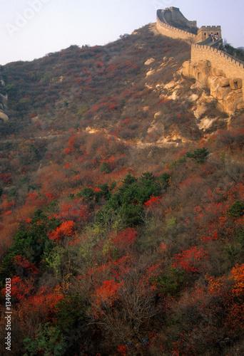 Fotografie, Obraz  Fall colors, Great Wall of China,