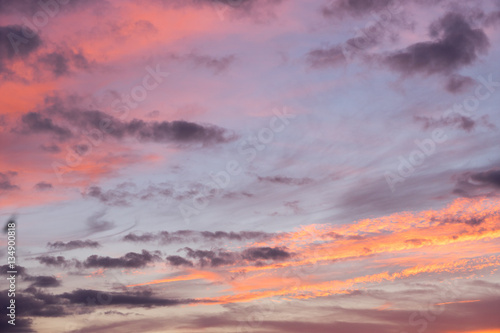 Aluminium Prints Heaven Sunset Sky Background