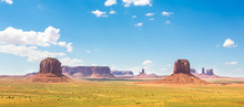 Scenic Sandstones, Cloudy Sky At Monument Valley