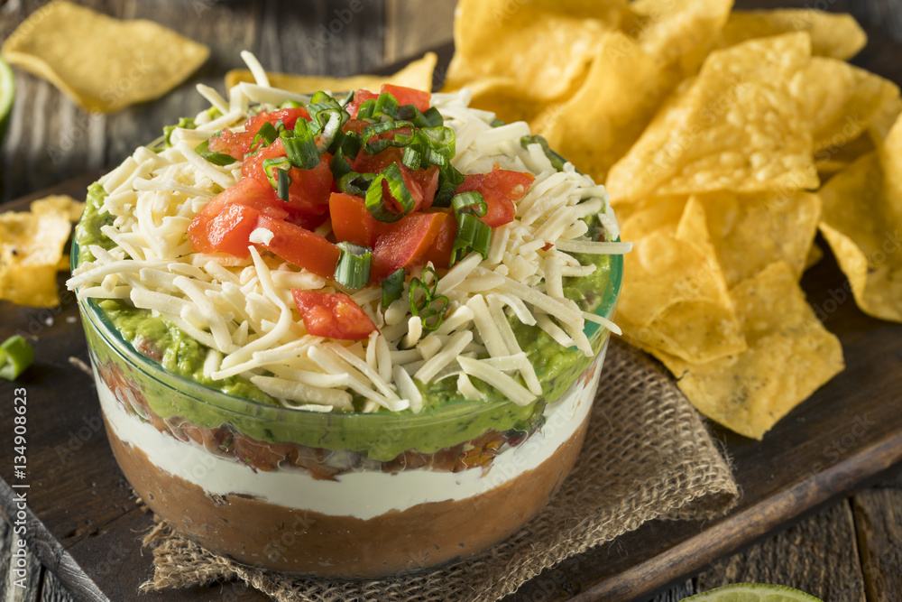 Fototapety, obrazy: Homemade Mexican 7 Layer Dip