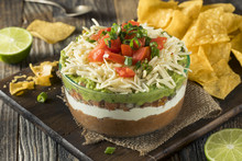 Homemade Mexican 7 Layer Dip