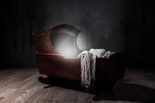 Eerie Cradle. Low Key Lighting