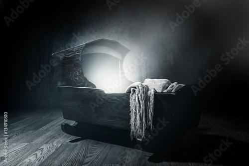 Eerie Cradle. Blue toned  lighting Wallpaper Mural