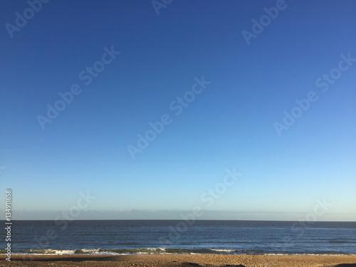 Deurstickers Canarische Eilanden Beautiful beach in Belgium and nice sky