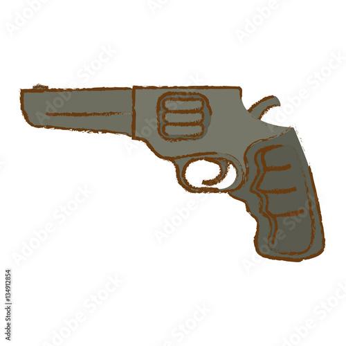 Photo  Pistol of gray color for civil defense, military equipment vector illustration