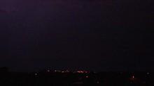 Lightning Flash To Ground At Night