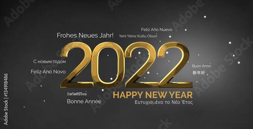 Fotografia  multilingual happy new year 3d render background
