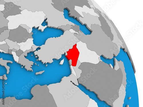 Syria on globe
