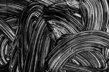 White brush strokes paint pattern