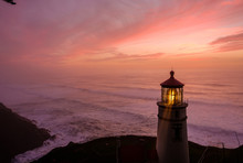 Heceta Head Lighthouse At Suns...