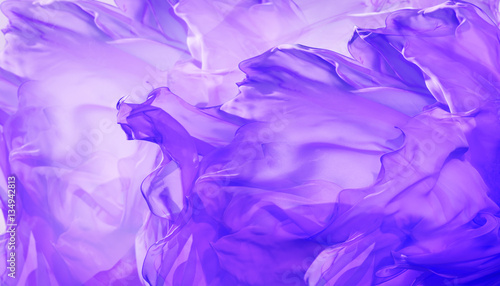 Silk Fabric Background, Abstract Waving Flying Cloth on Wind, Purple Color Fractal Waves