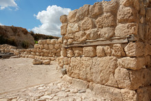 Ruins At The Tel Megiddo Natio...