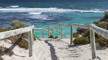 Scenic View Over One Of The Beaches Of Rottnest Island, Australi