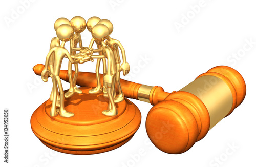 Photo  Class Action Lawsuit Legal Gavel Concept With The Original 3D Character Illustra