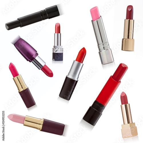 Fotografía  Lipsticks variation on white background