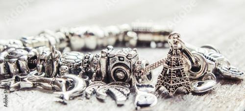 Fotografía  bracelet with pendants charms on the summer theme