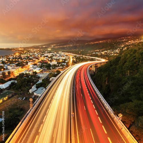 Fotografia, Obraz  Baie de St-Paul au crépuscule
