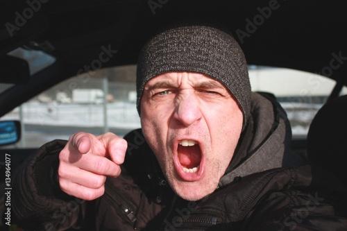 Photo  Wütender Autofahrer