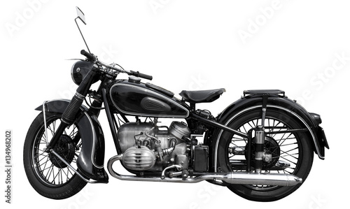 In de dag Fiets schönes altes oldtimer motorrad von 1925