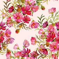 FototapetaSeamless pattern garden flowers