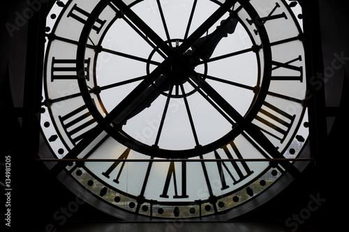 Large backlit clock in the Orsay Museum, Paris Fototapet